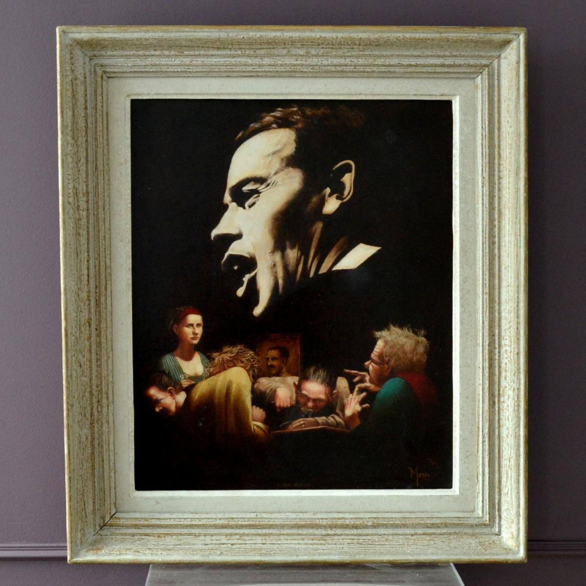 """""""Ces gens là"""" Jacques Brel Peinture par Yann Manéo"""