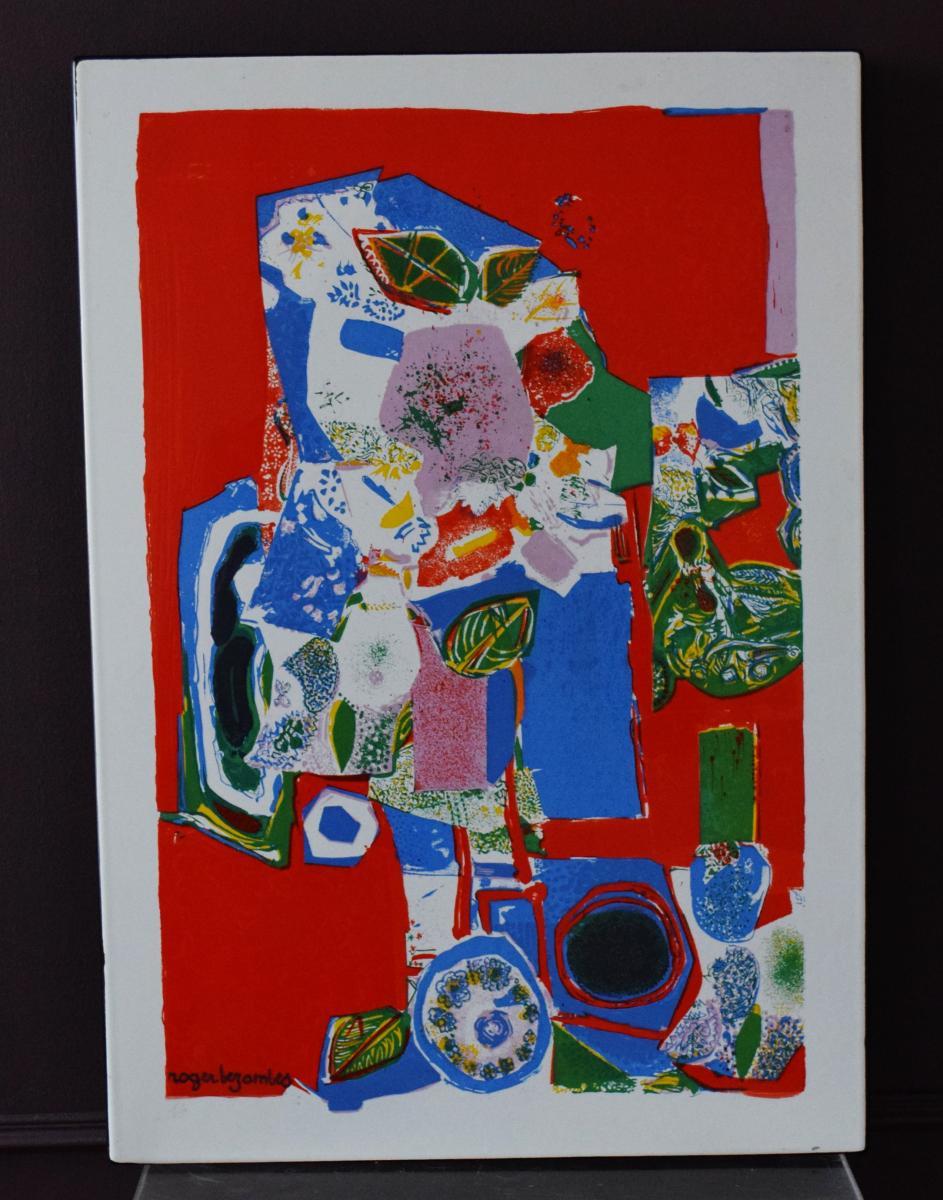 Roger Bezombes Plaque émaillée numérotée - 1971-photo-2