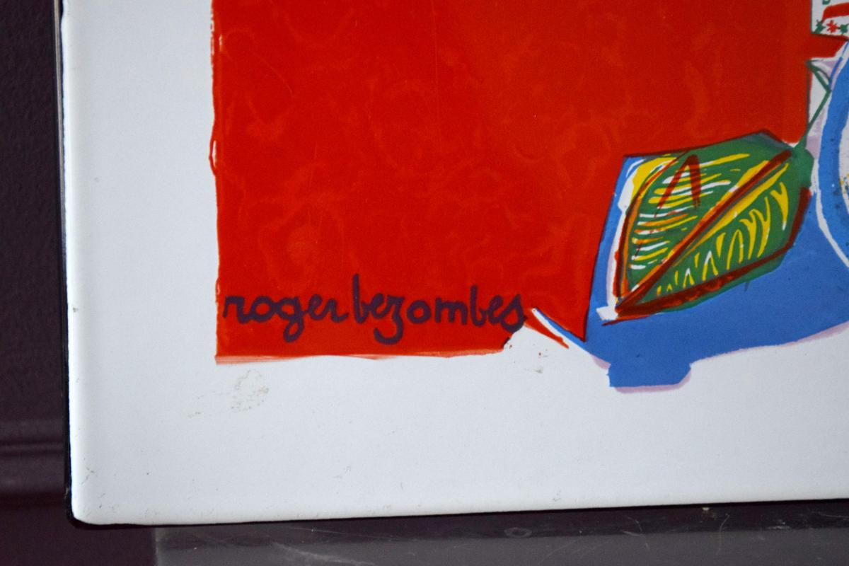 Roger Bezombes Plaque émaillée numérotée - 1971-photo-3