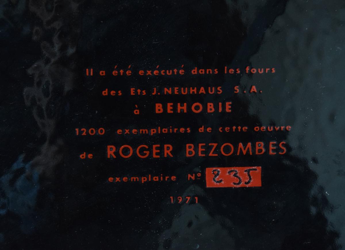 Roger Bezombes Plaque émaillée numérotée - 1971-photo-4