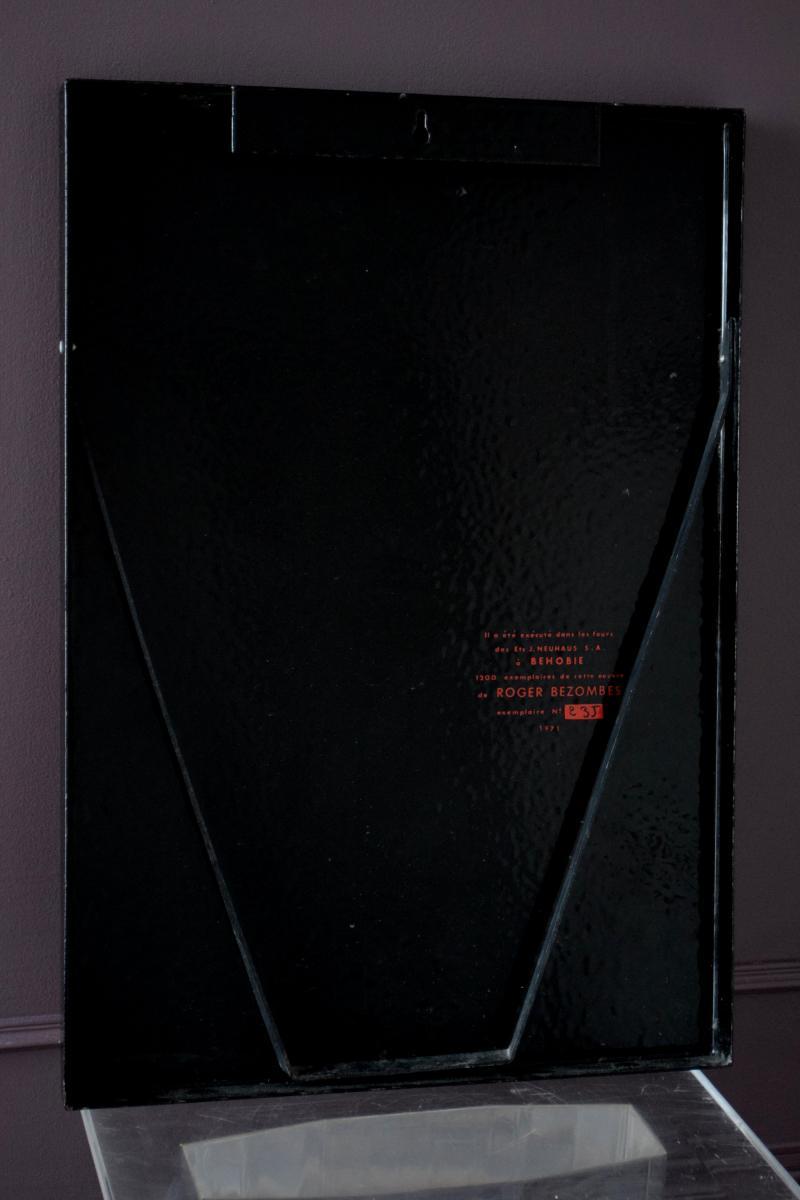 Roger Bezombes Plaque émaillée numérotée - 1971-photo-1