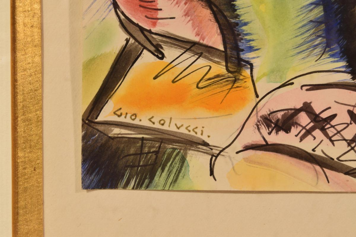 """vengeance"" Aquarelle par Gio Colucci -photo-3"