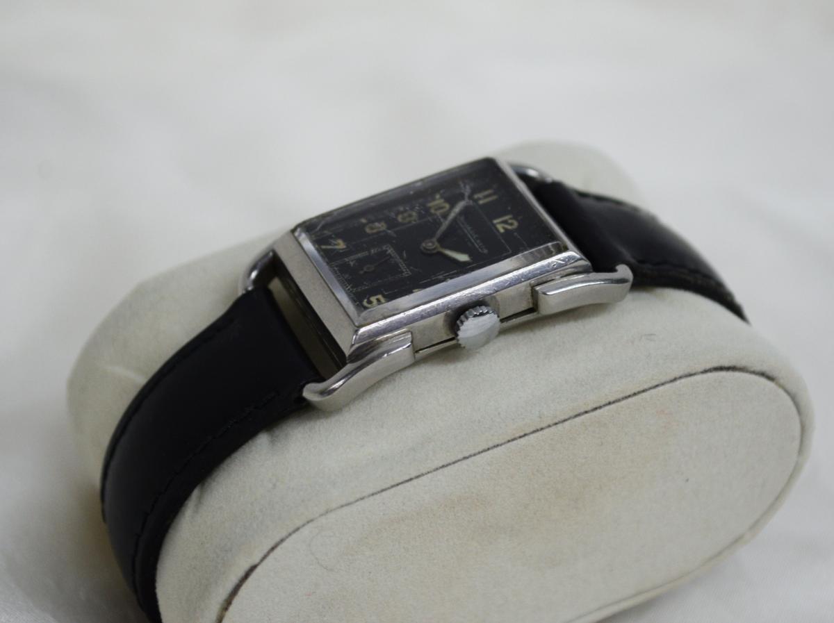 Montre Jaeger Lecoultre Modèle Etrier Curvex Circa 1930-photo-2