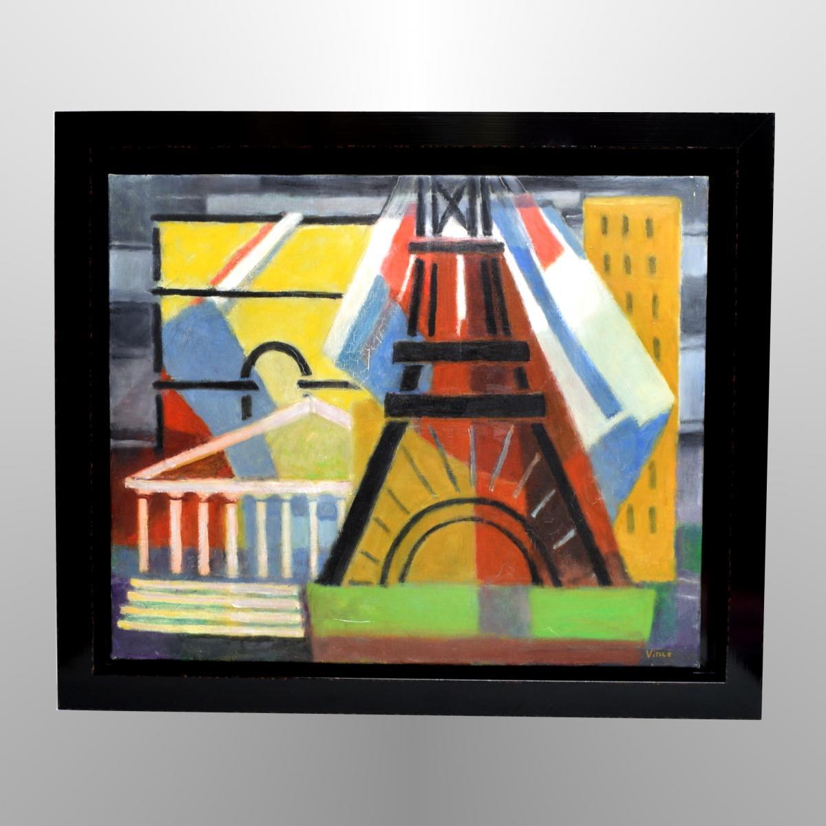 """""""paris"""" By Georges Vince (1913-1991)"""