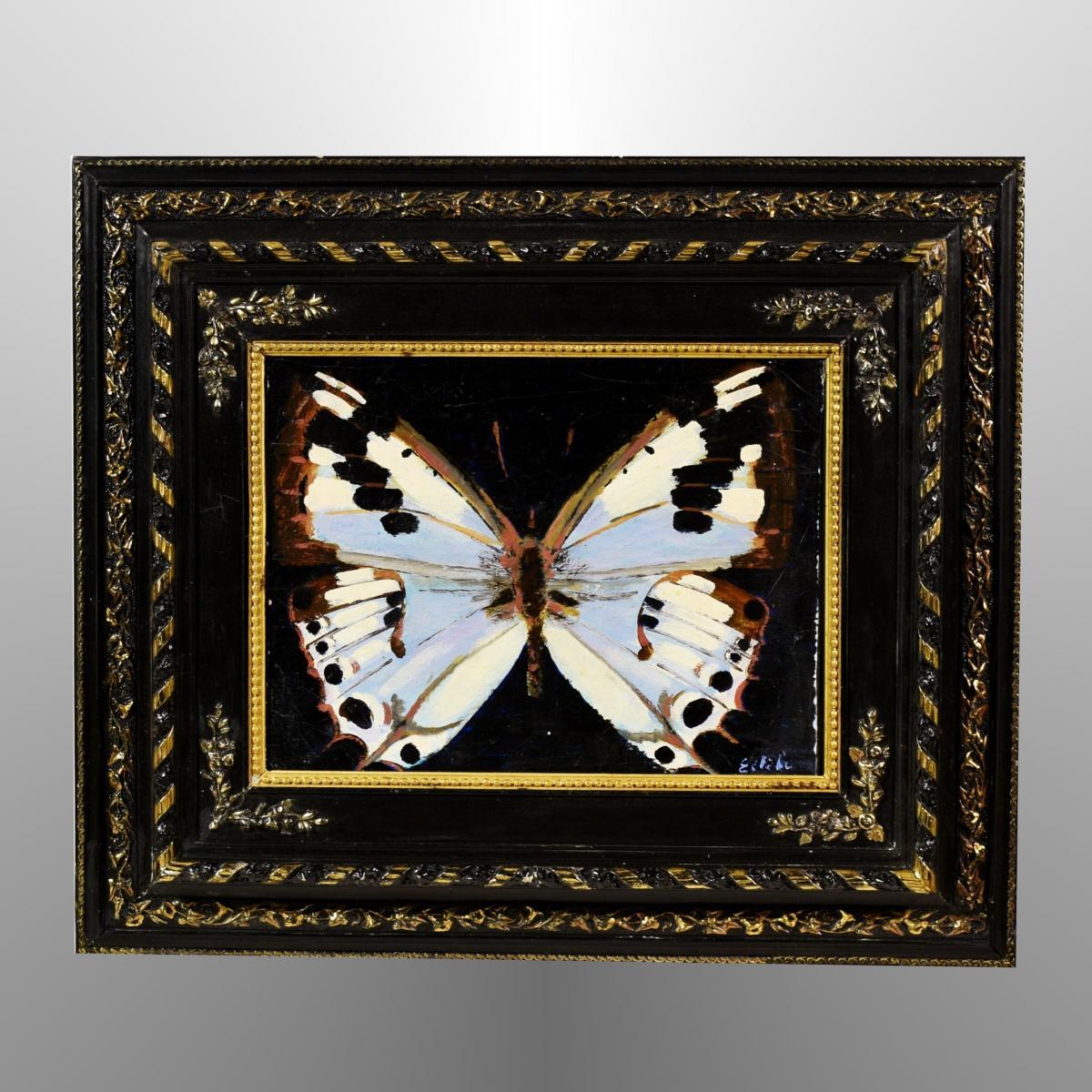 """Papillon"" signé Estebe XXème"