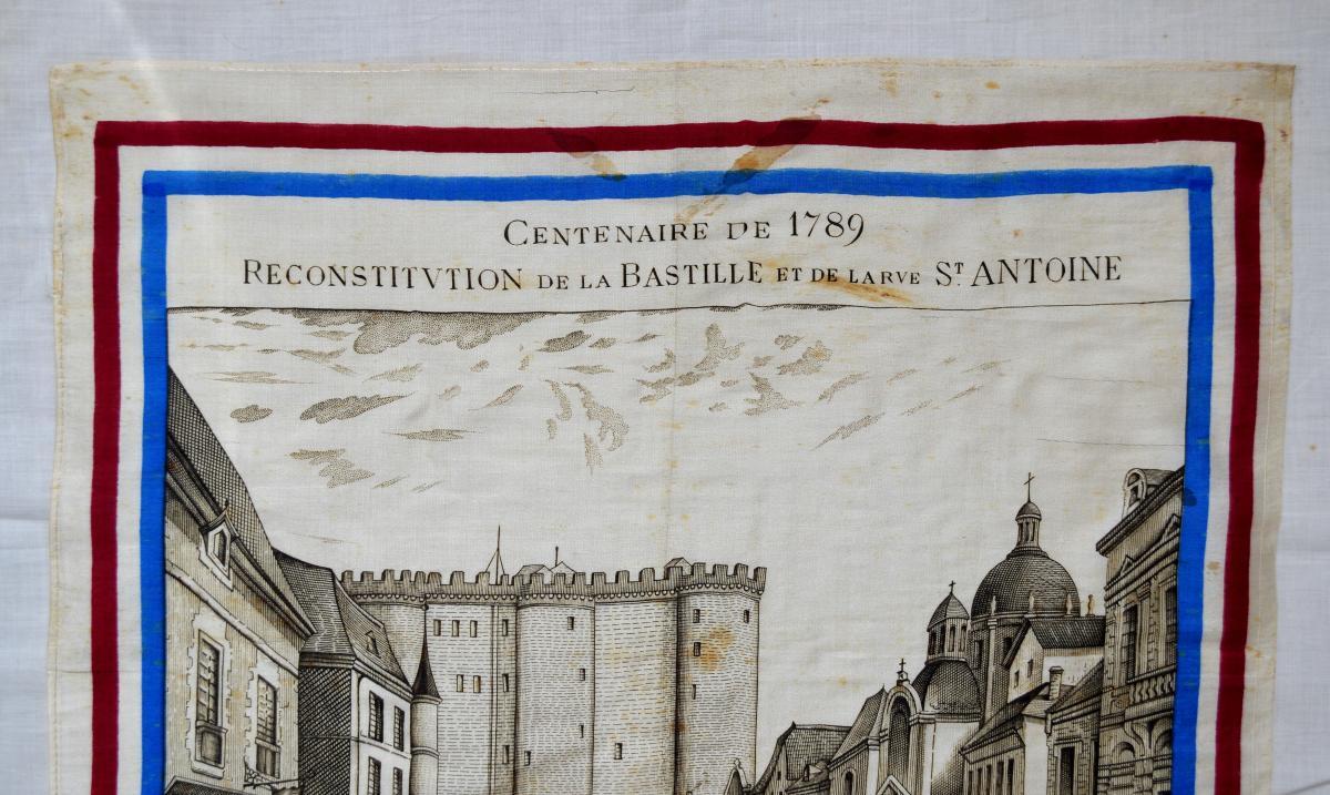 Mouchoir Centenaire De 1789 Reconstitution De La Bastille Et De La Rue Saint-antoine-photo-2