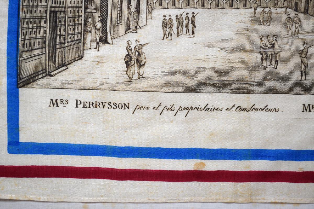 Mouchoir Centenaire De 1789 Reconstitution De La Bastille Et De La Rue Saint-antoine-photo-1