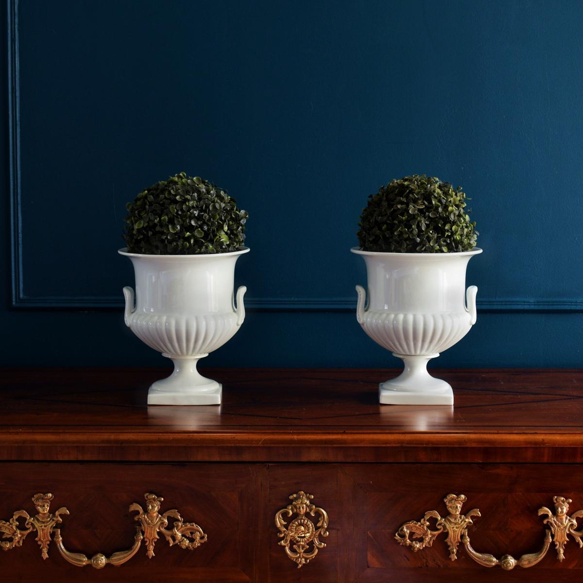 Paire de Vases Porcelaine blanche Limoges