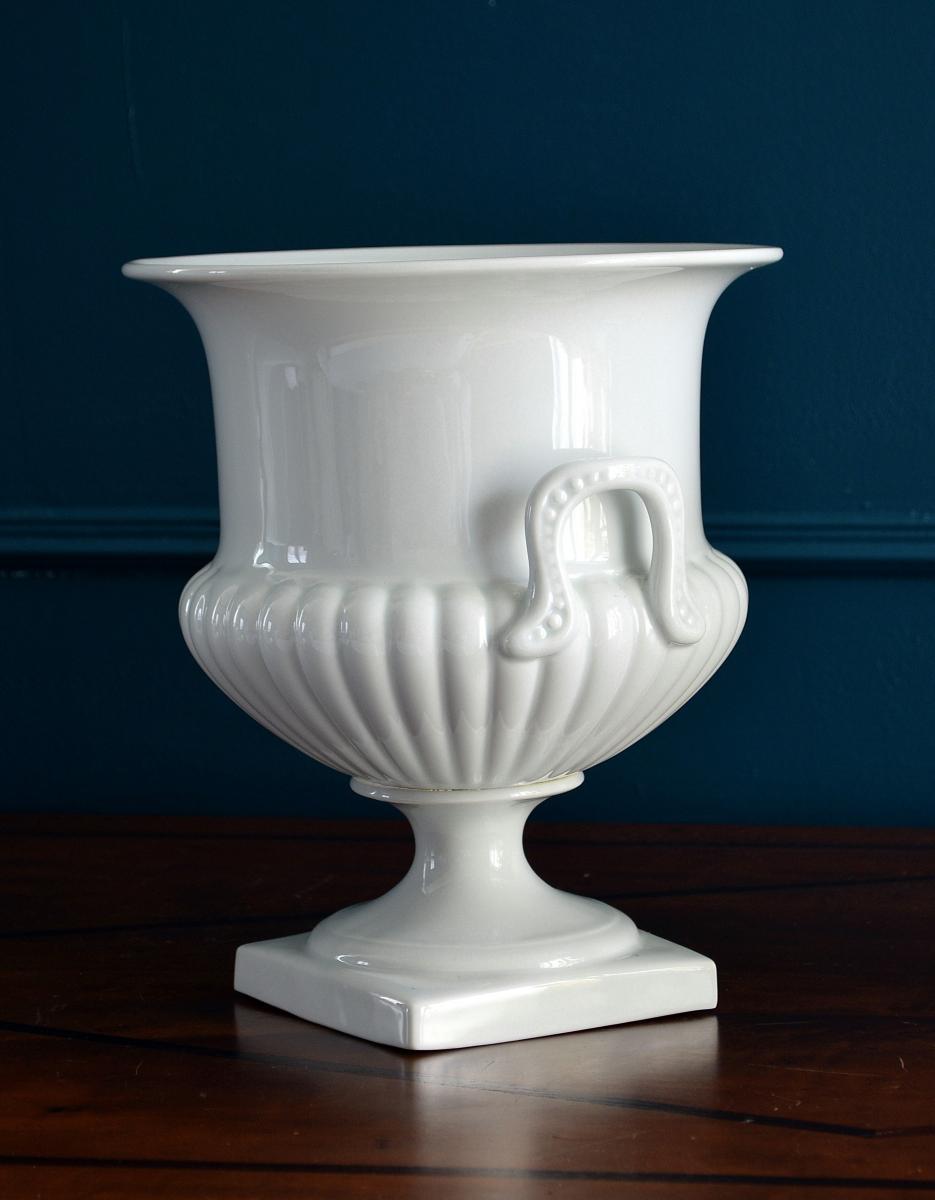 Paire de Vases Porcelaine blanche Limoges-photo-1