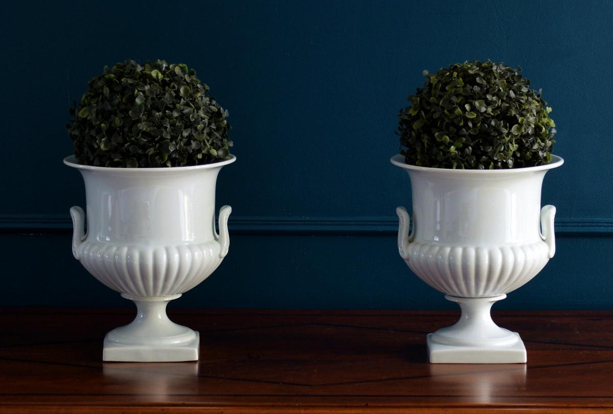 Paire de Vases Porcelaine blanche Limoges-photo-5