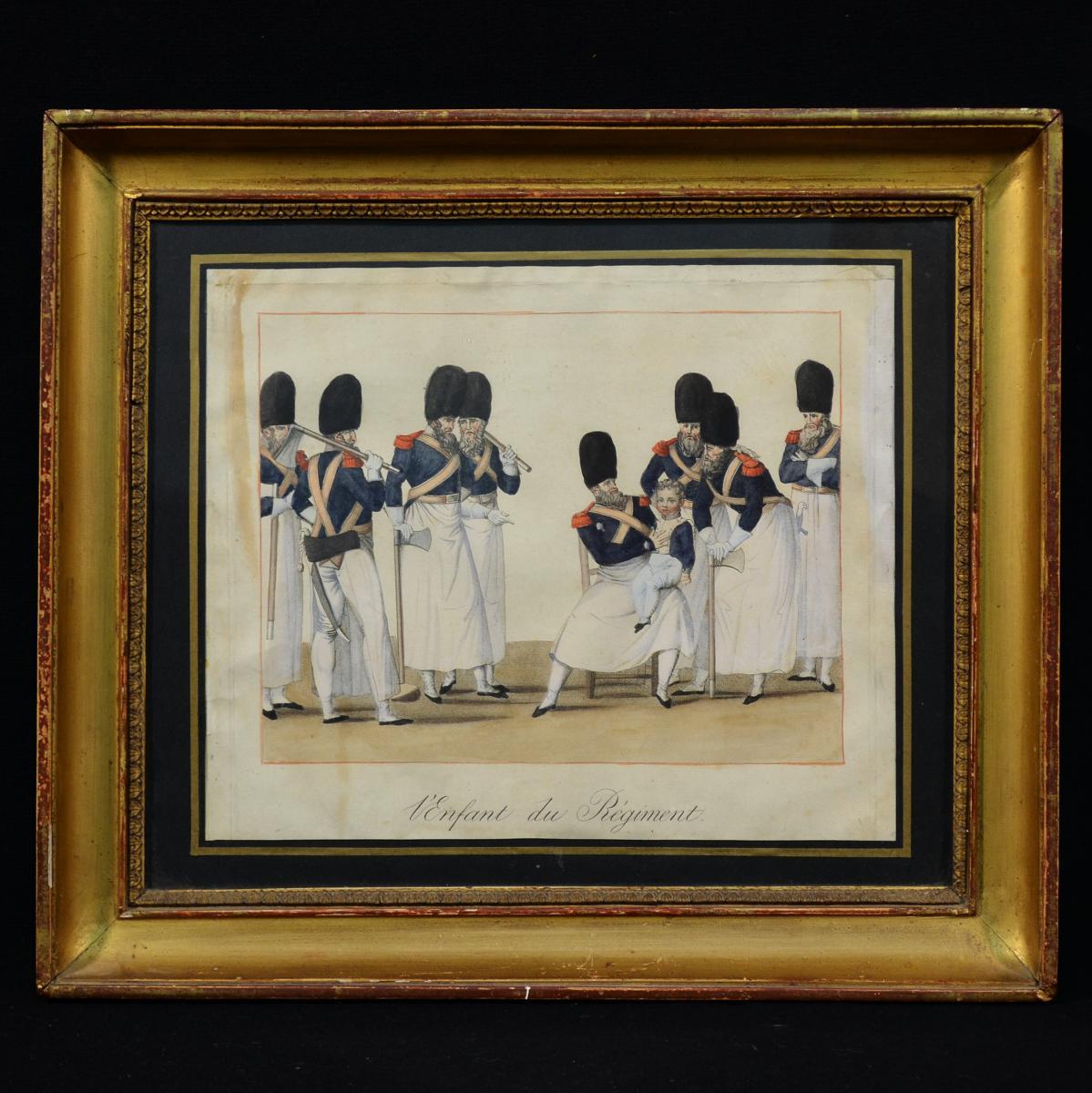Print The Child Of The Regiment Partout Engraver Coll. Lafargue