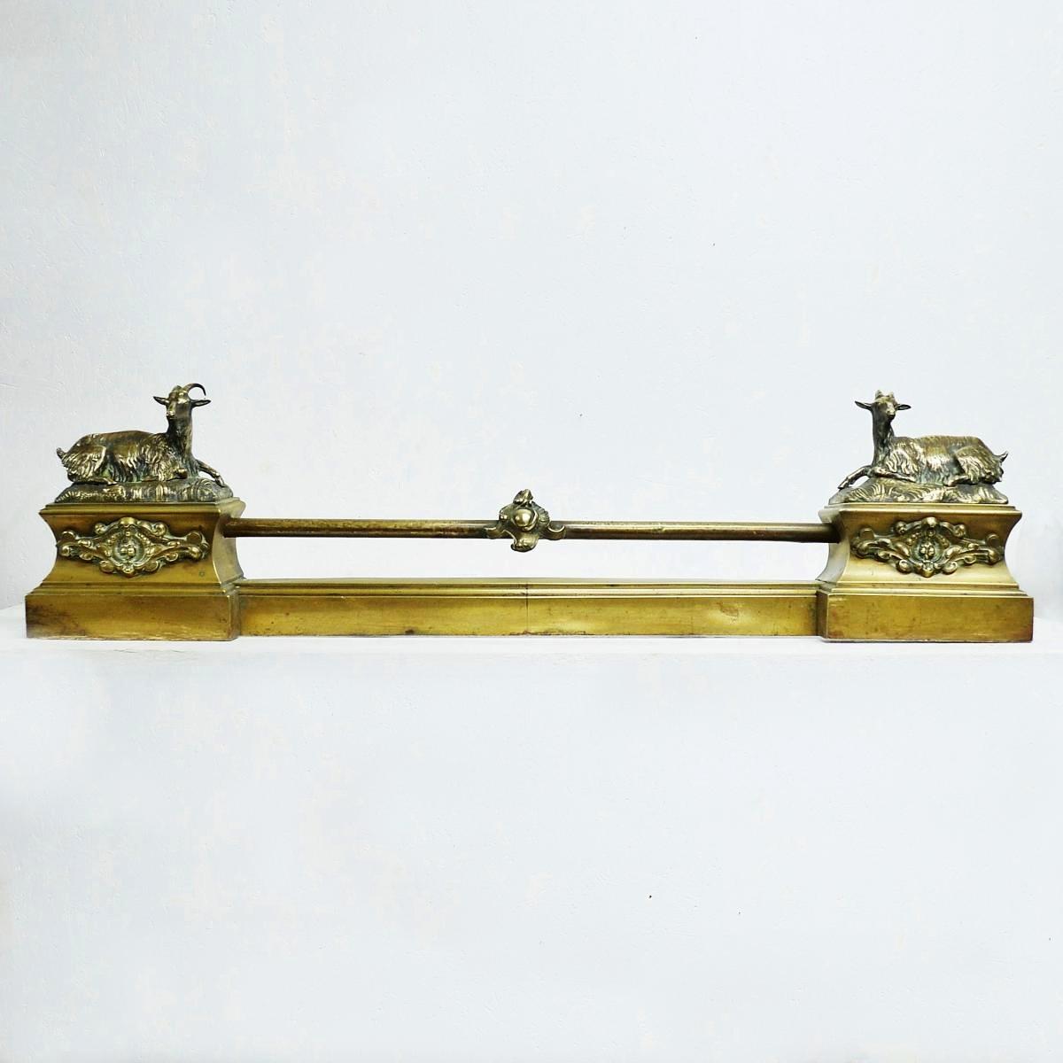 Barre de Foyer ou de Cheminée en Bronze XIXème