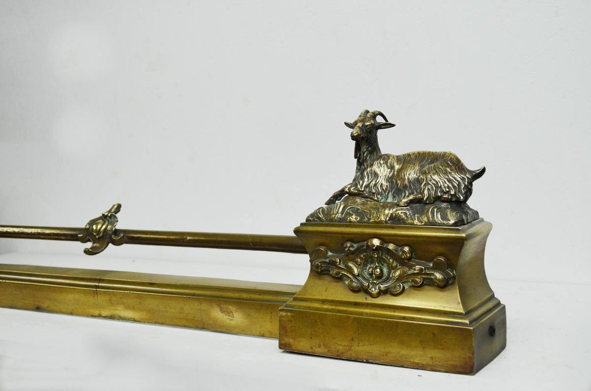 Barre de Foyer ou de Cheminée en Bronze XIXème-photo-2