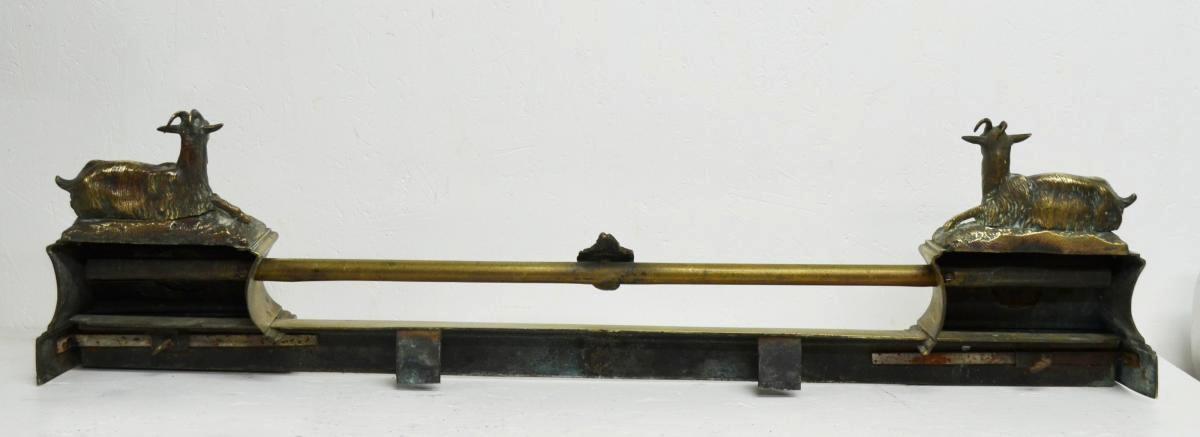 Barre de Foyer ou de Cheminée en Bronze XIXème-photo-3