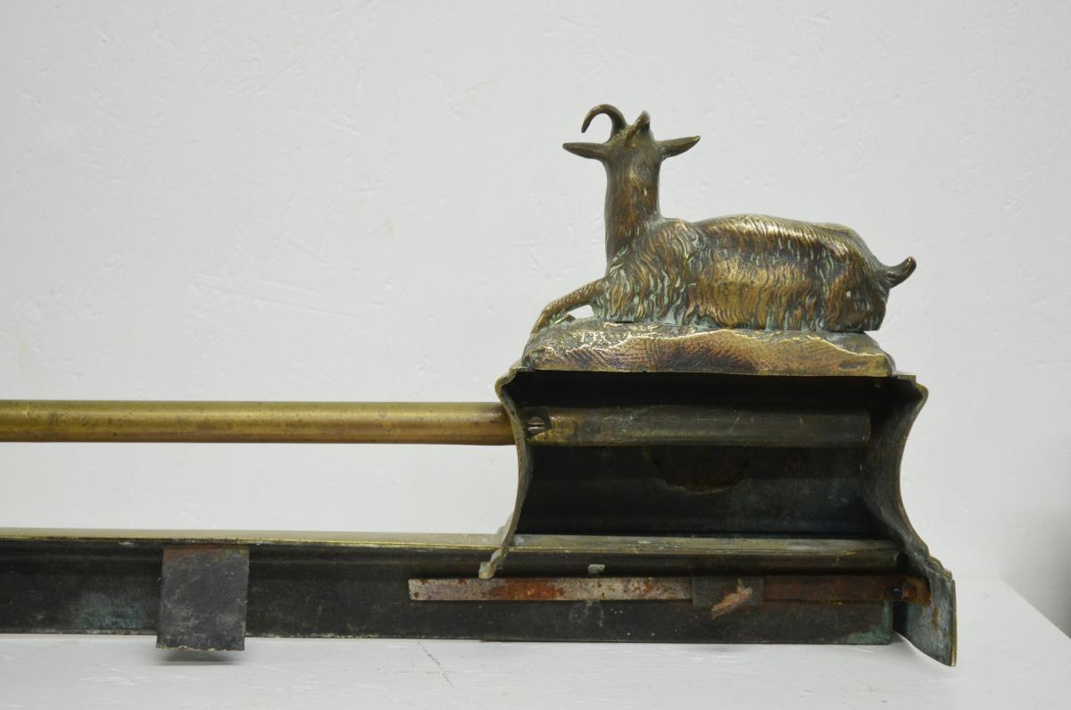 Barre de Foyer ou de Cheminée en Bronze XIXème-photo-4