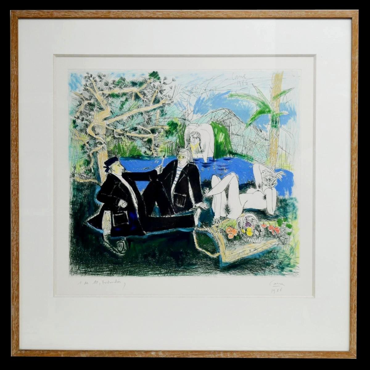 """""""Le déjeuner sur l'herbe"""" par Louis Cane"""