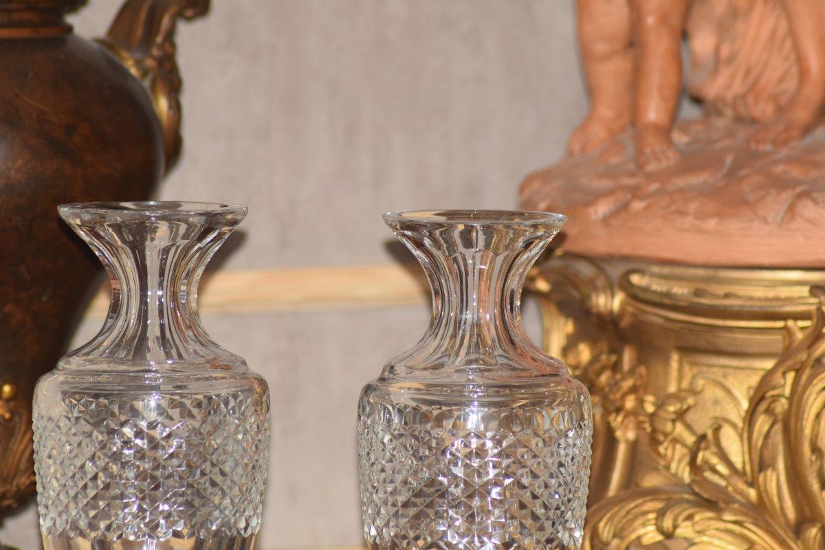 Paire de vases balustres cristal de Sèvres-photo-5