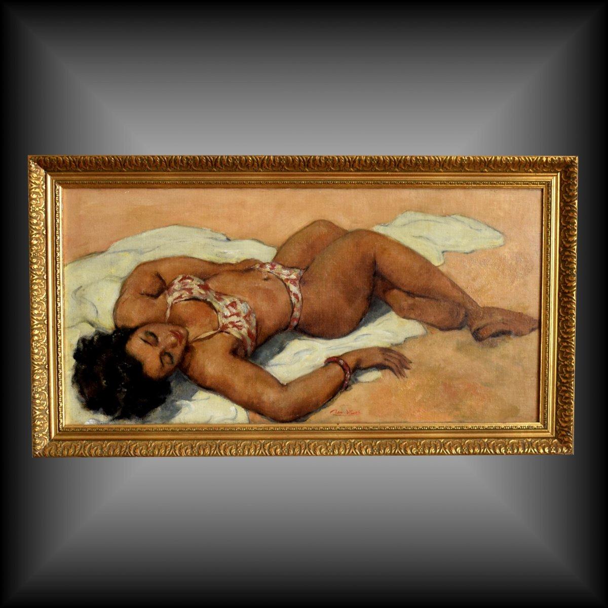 "Grande peinture ""Bikini"" par César Vilot"
