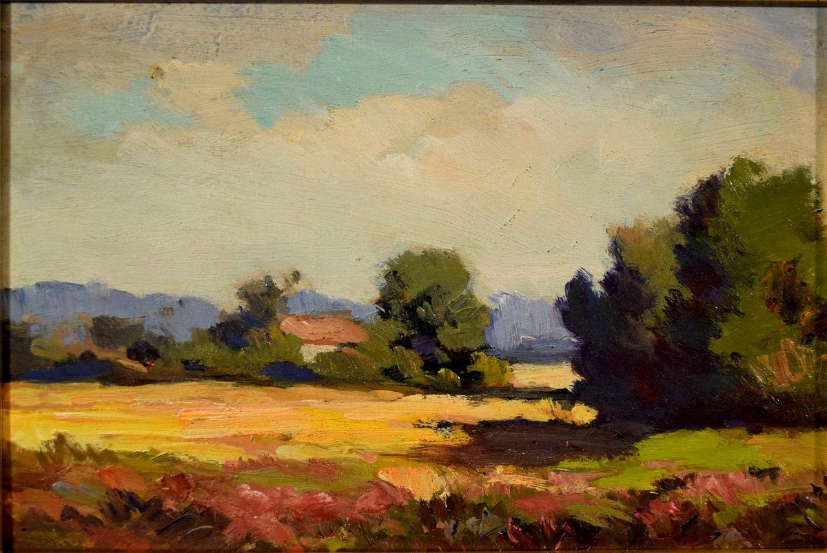 Trois paysages de Sologne par Maurice Golleau (1897-1970)-photo-3