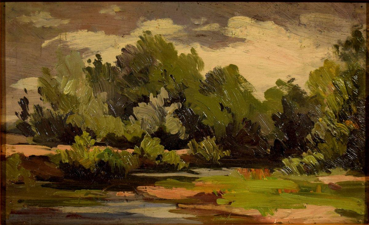 Trois paysages de Sologne par Maurice Golleau (1897-1970)-photo-4