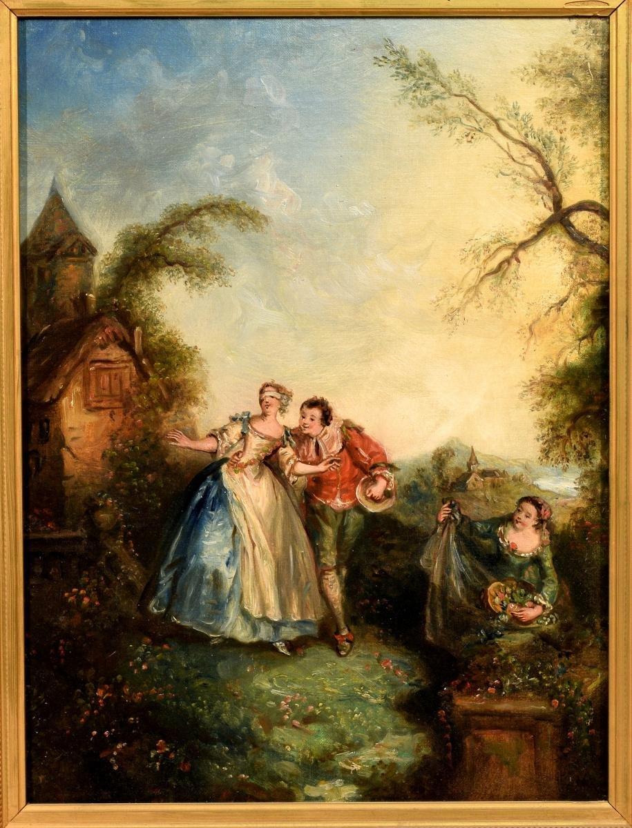 Paire de Scènes galantes XIXème-photo-4