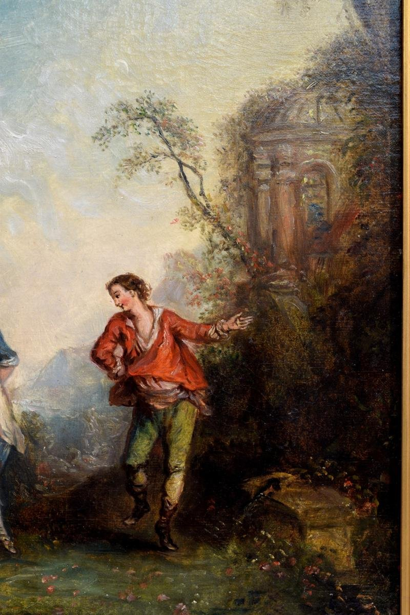 Paire de Scènes galantes XIXème-photo-6