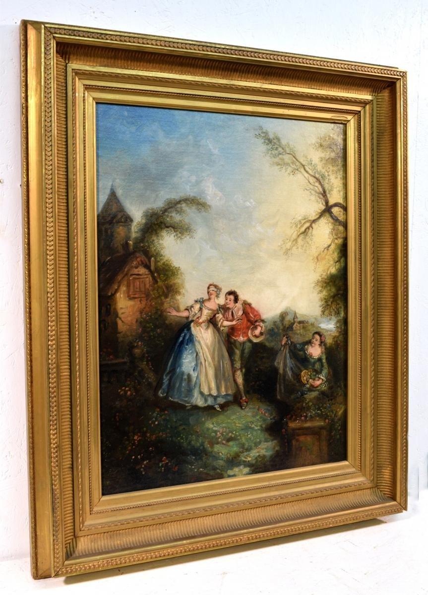 Paire de Scènes galantes XIXème-photo-8