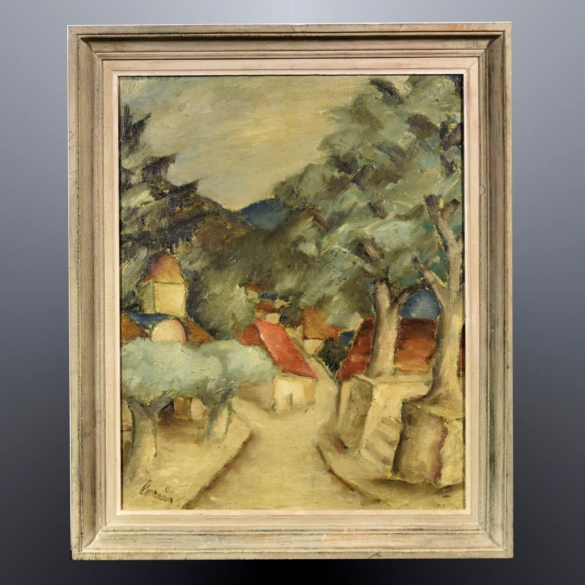 Paysage Cézannien Rue de Village XXème