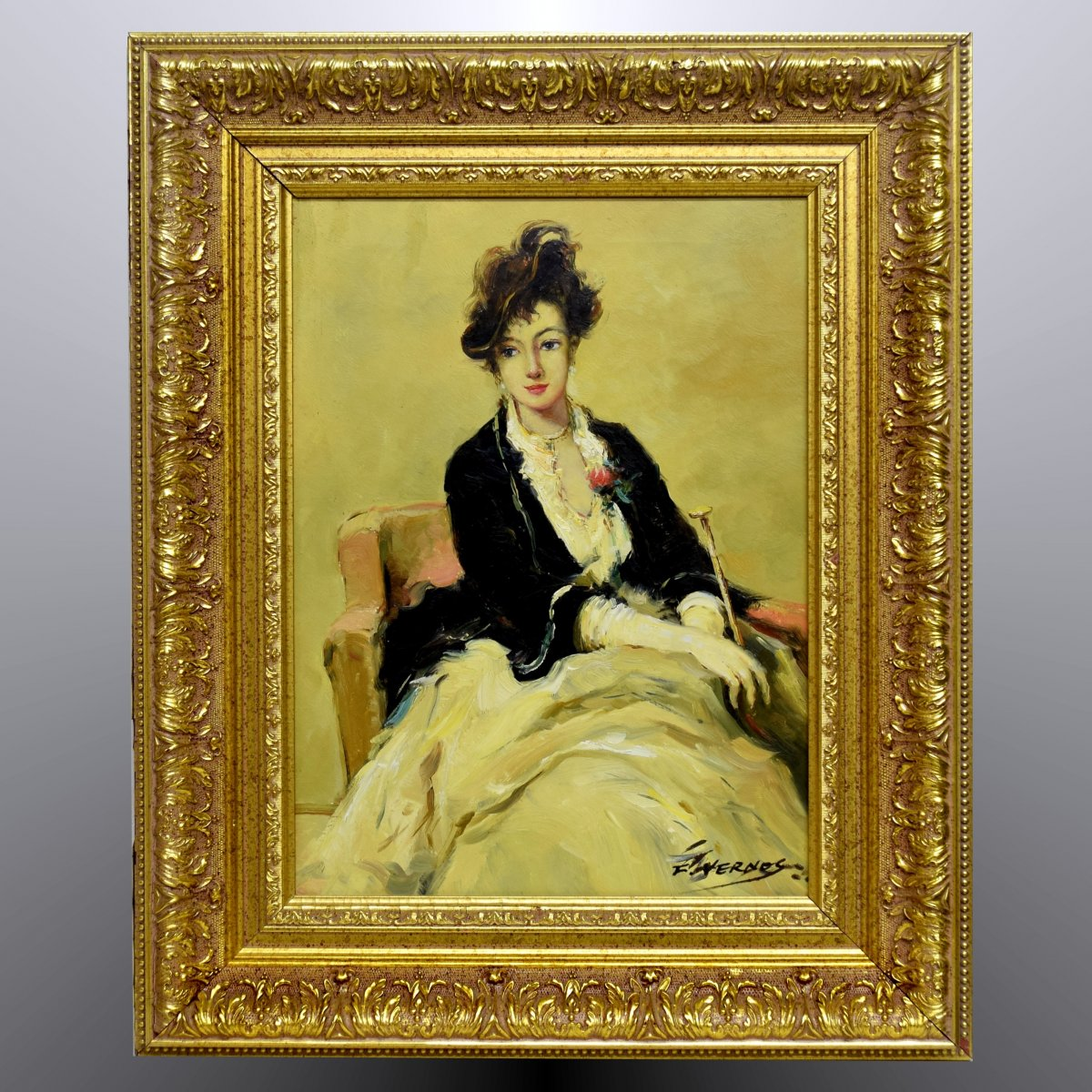 Portrait Of Young Woman Late Nineteenth