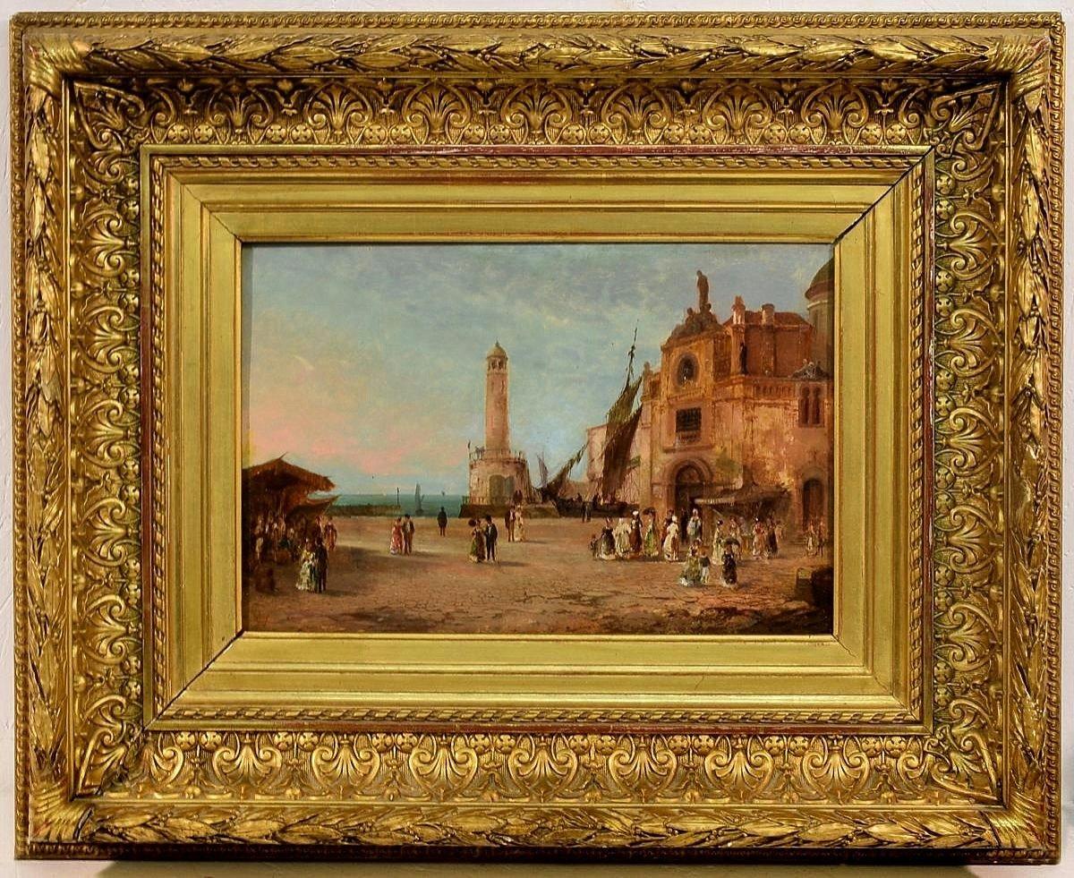 Port animé en Italie XIXème-photo-3