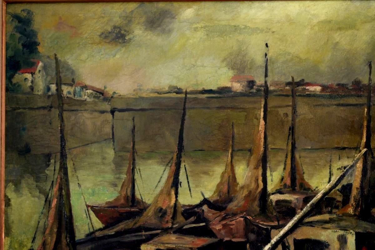 Fishing Port By Emile-henry Tilmans 1949-photo-1