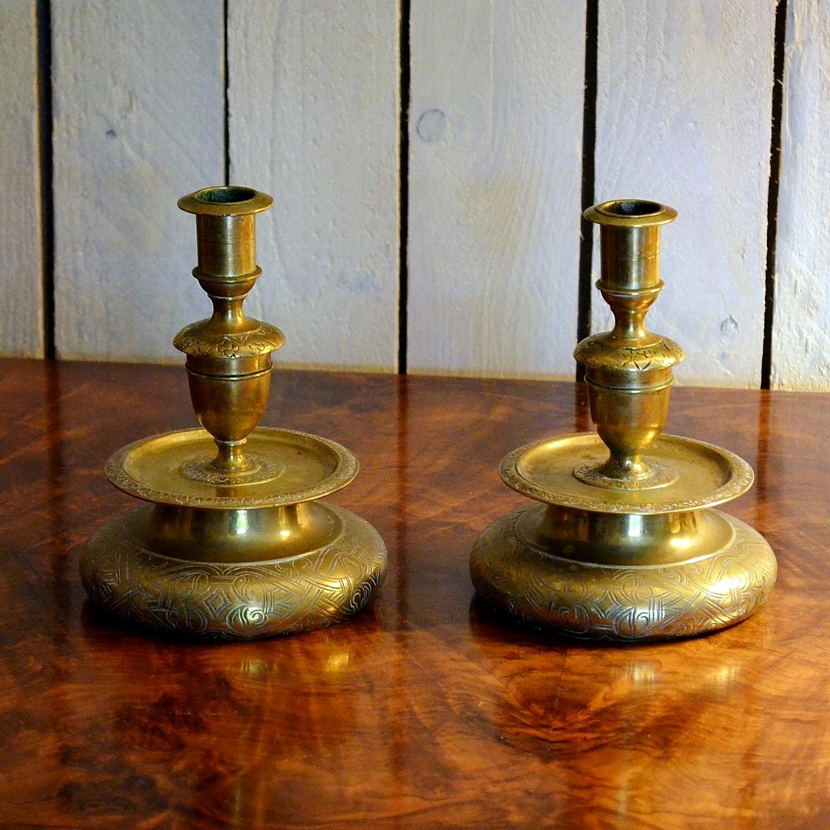 Pair Of Bronze Candlesticks Candlesticks XVII