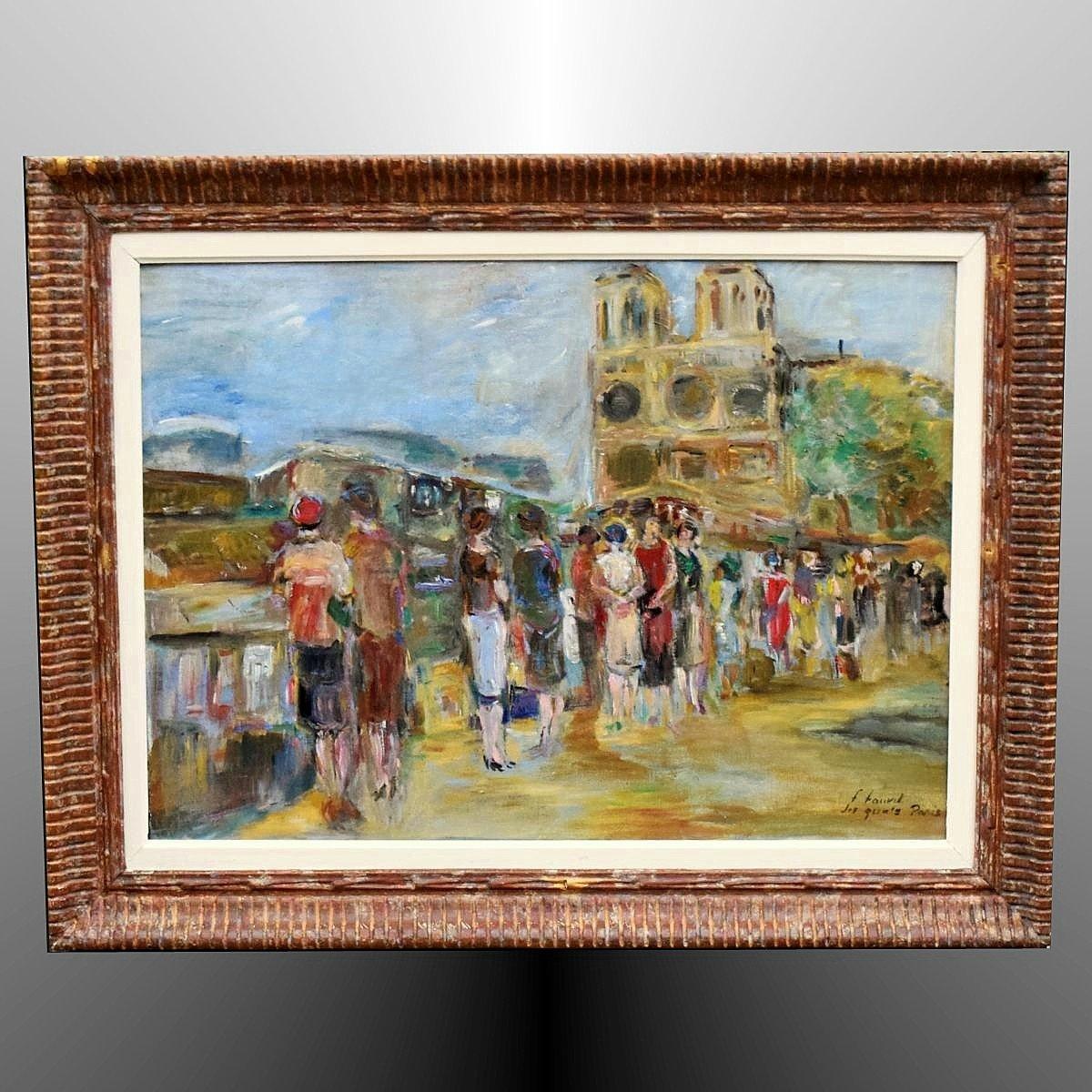 Les quais et Notre Dame Paris par Françoise Fauvet
