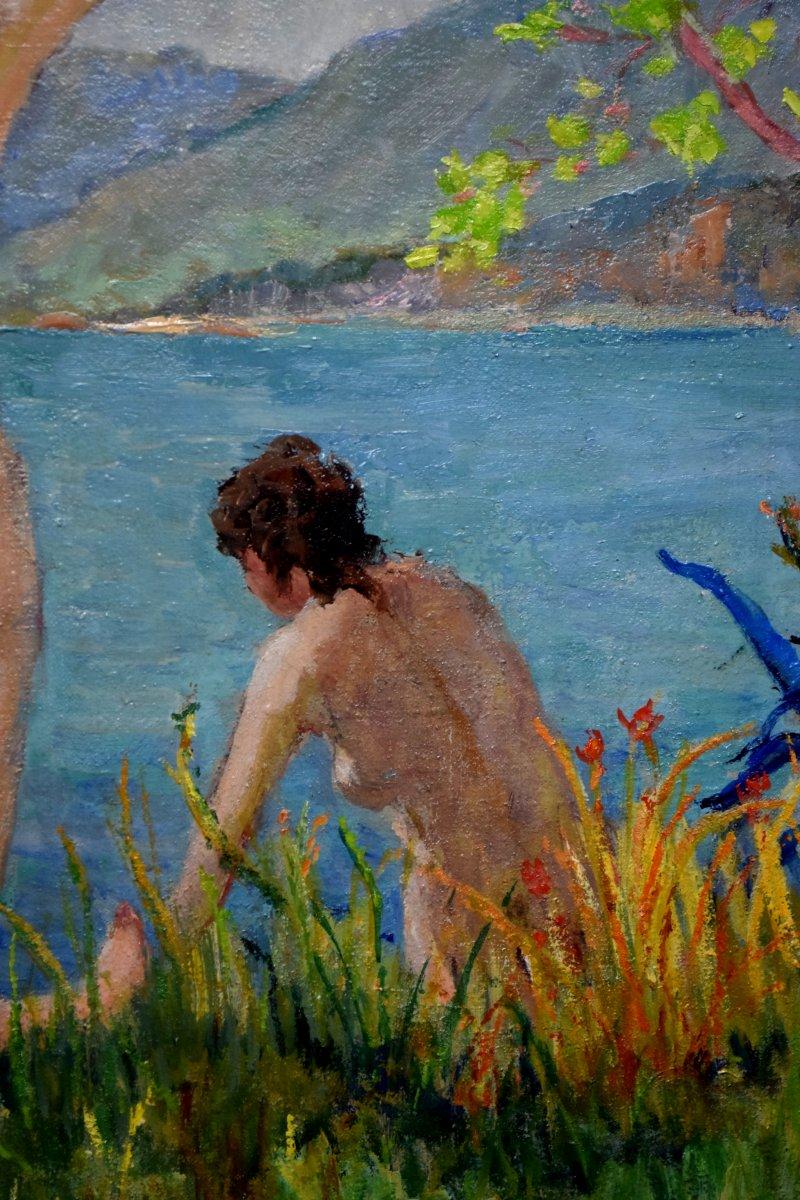 Au bord du Lac du Bourget signé G.Guillaume-photo-1