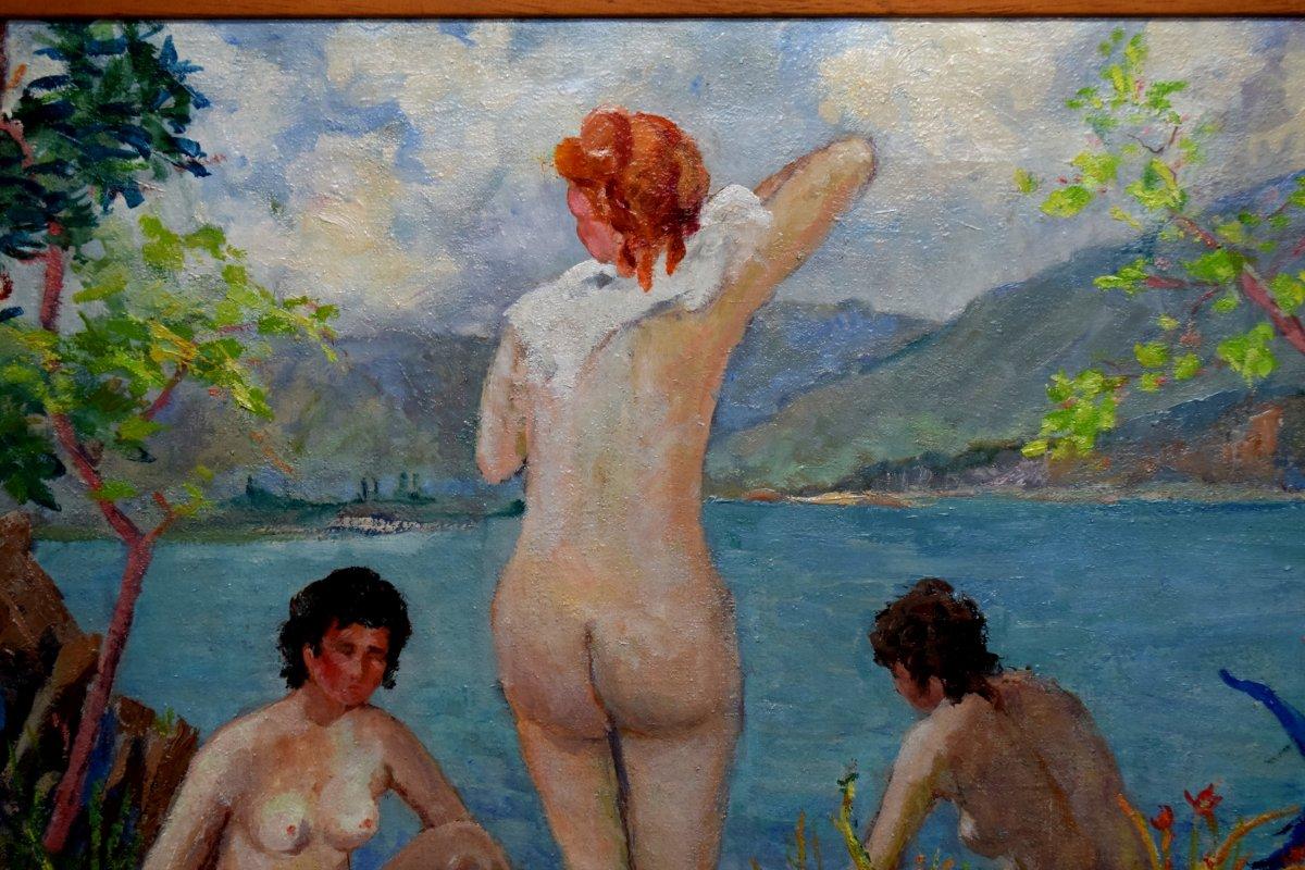 Au bord du Lac du Bourget signé G.Guillaume-photo-2
