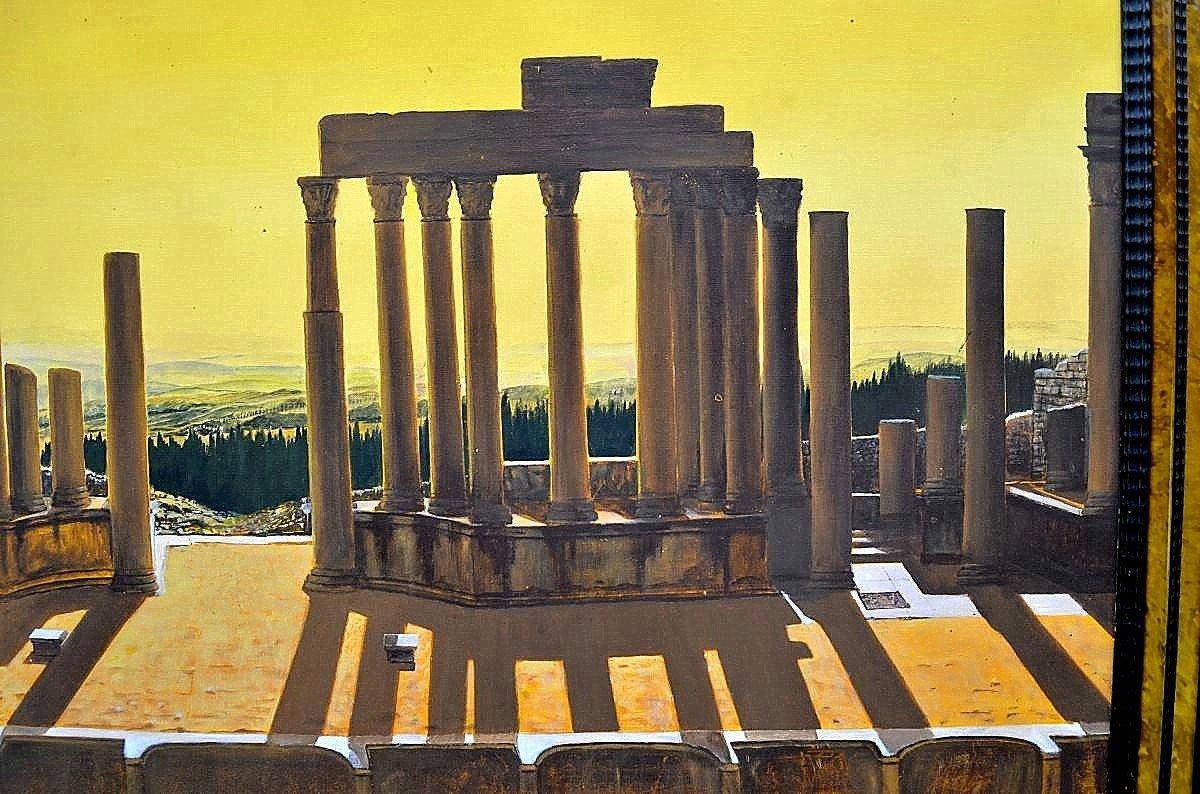 Grande peinture métaphysique par Georges Berthelot-photo-1