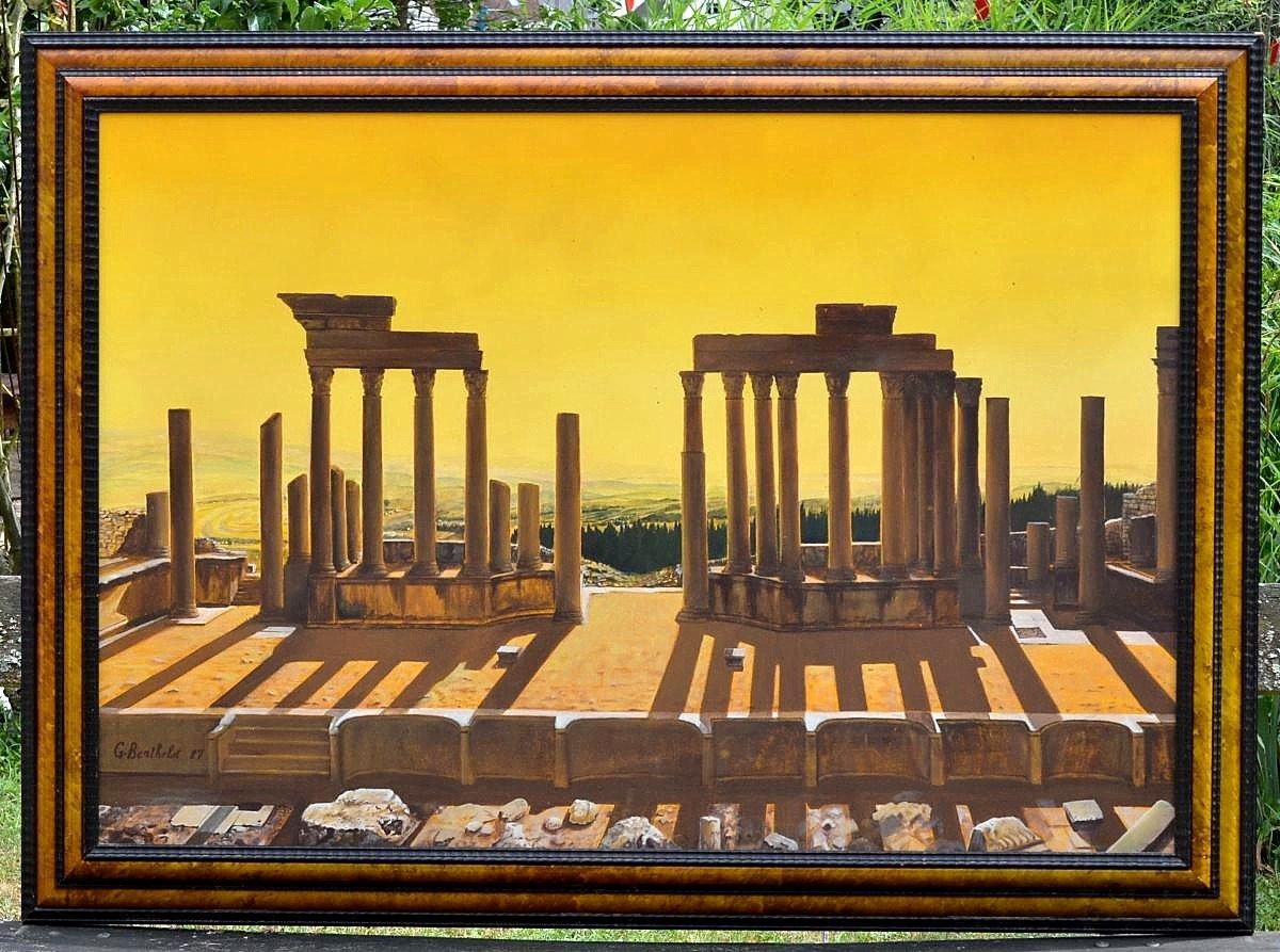 Grande peinture métaphysique par Georges Berthelot-photo-5