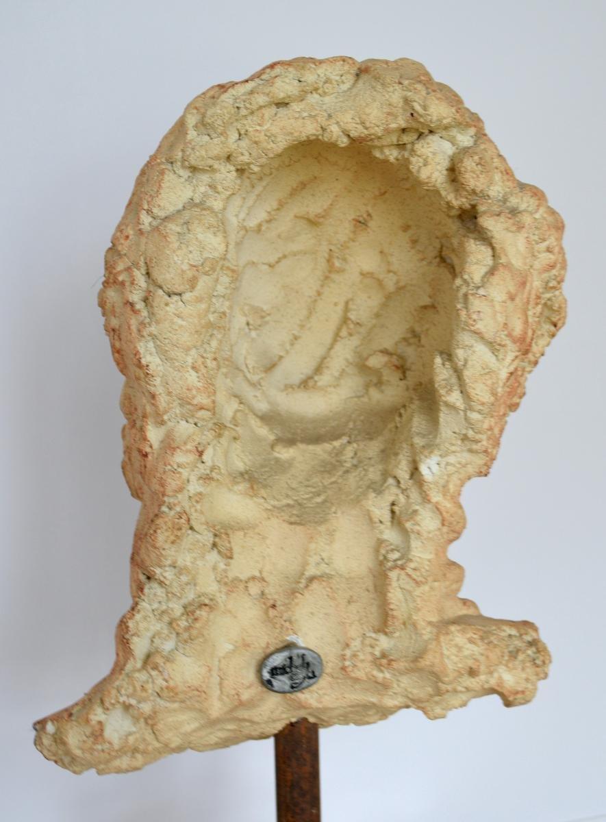 Grande Sculpture Tête de Femme à l'Antique Terre cuite Par Michel Cayla-photo-1