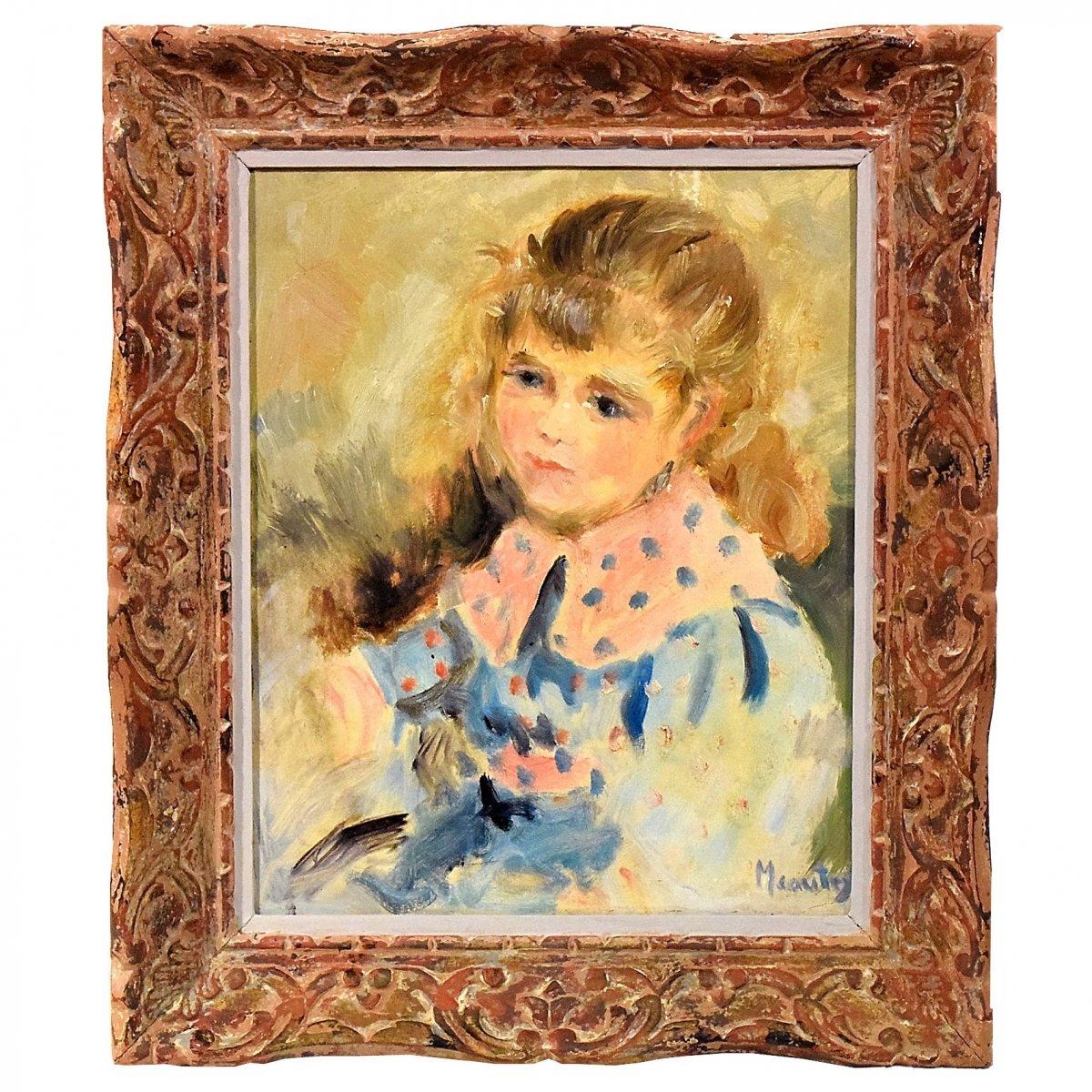 Portrait de jeune fille par Meautry