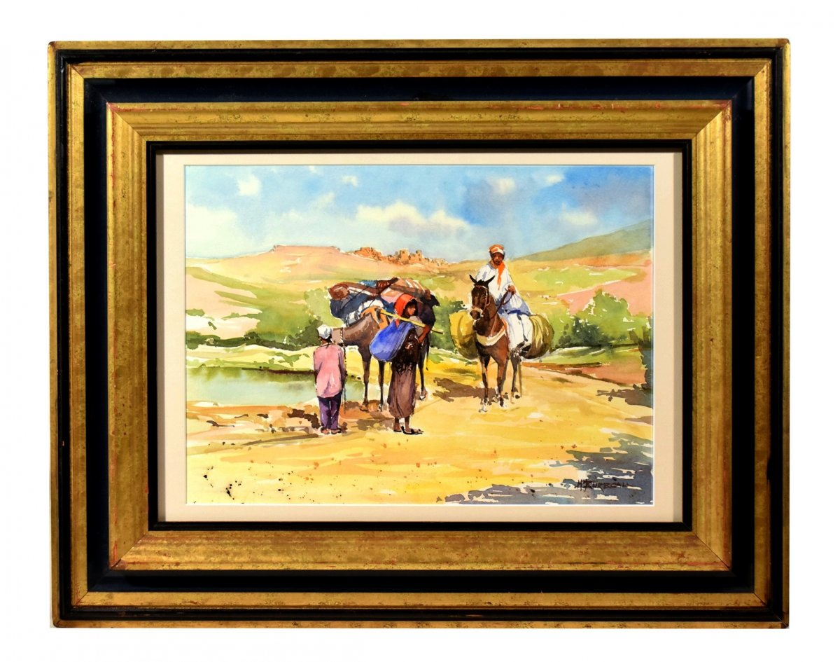 Return From The Village To Morocco By Michel Burbeau