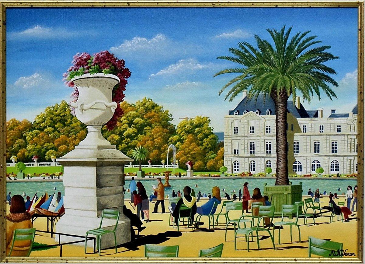 Jardin du Luxembourg par Marie-Hélène Veran Art naïf-photo-2