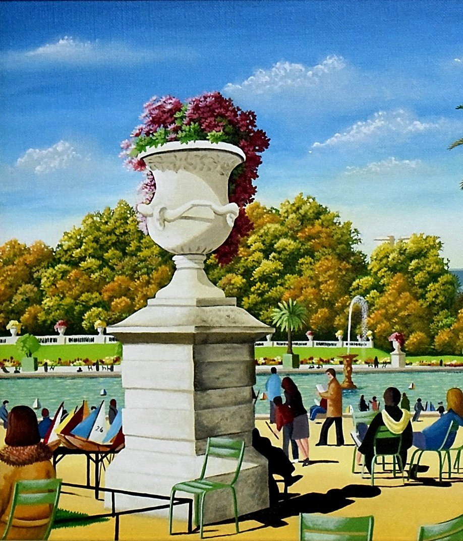 Jardin du Luxembourg par Marie-Hélène Veran Art naïf-photo-1