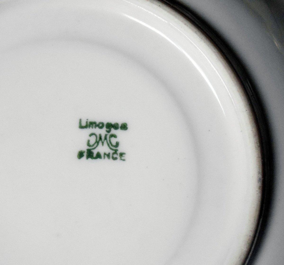 Service à café aux barbeaux Limoges CMC Maureil Chapeau Charles-photo-3