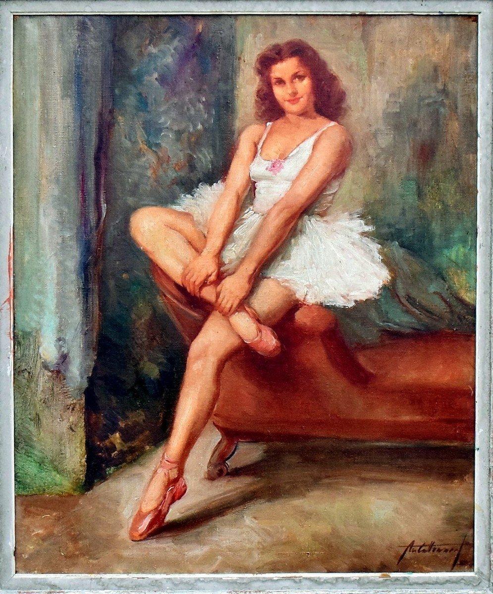 Portrait en pied post-impressionniste d'une danseuse-photo-2
