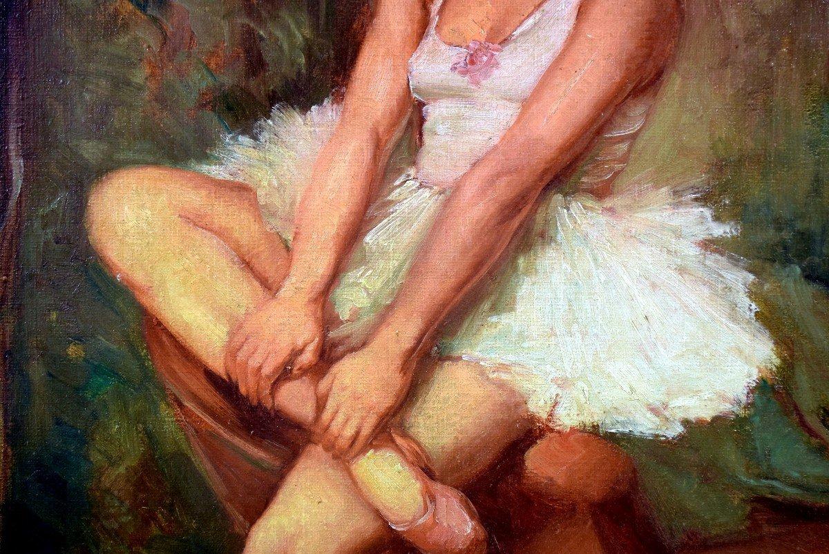 Portrait en pied post-impressionniste d'une danseuse-photo-3