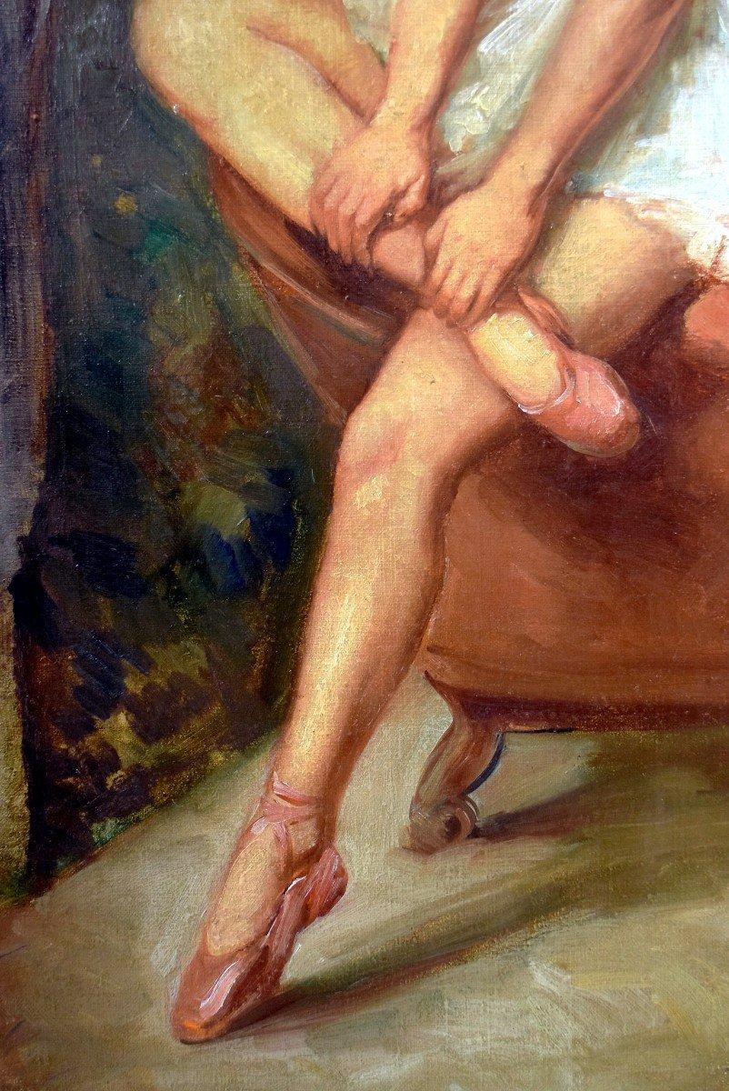 Portrait en pied post-impressionniste d'une danseuse-photo-4