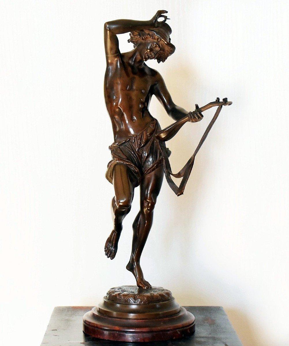 Le musicien florentin Bronze par Carrier-Belleuse-photo-3