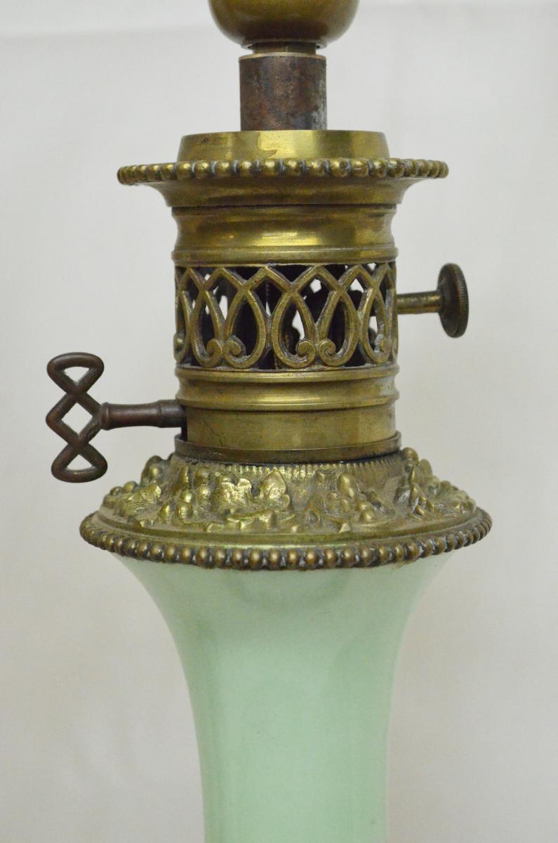 Paire De Lampes En Porcelaine De Paris XIXème-photo-1