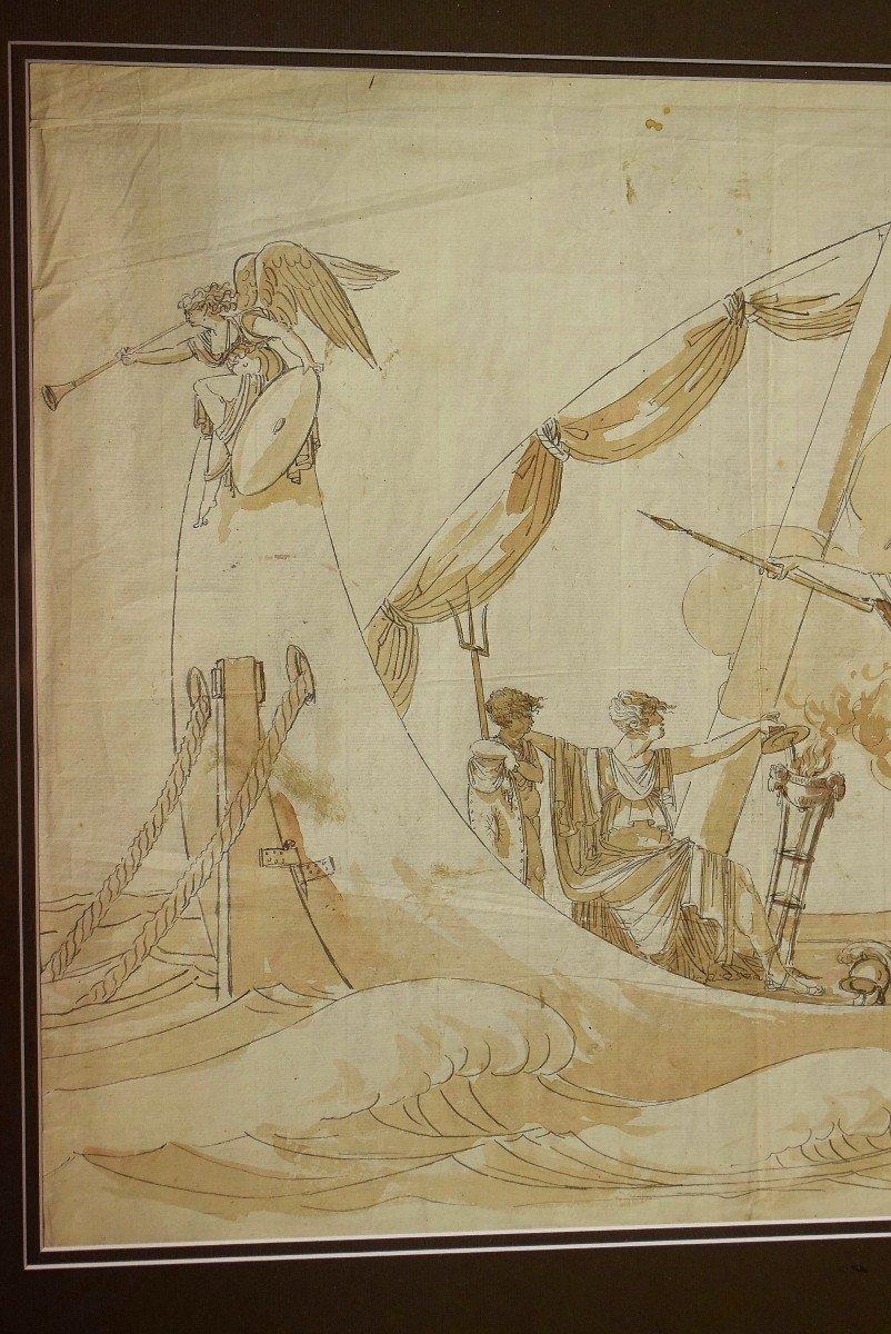 Grand dessin Athena (Minerve) XVIIIème-photo-1