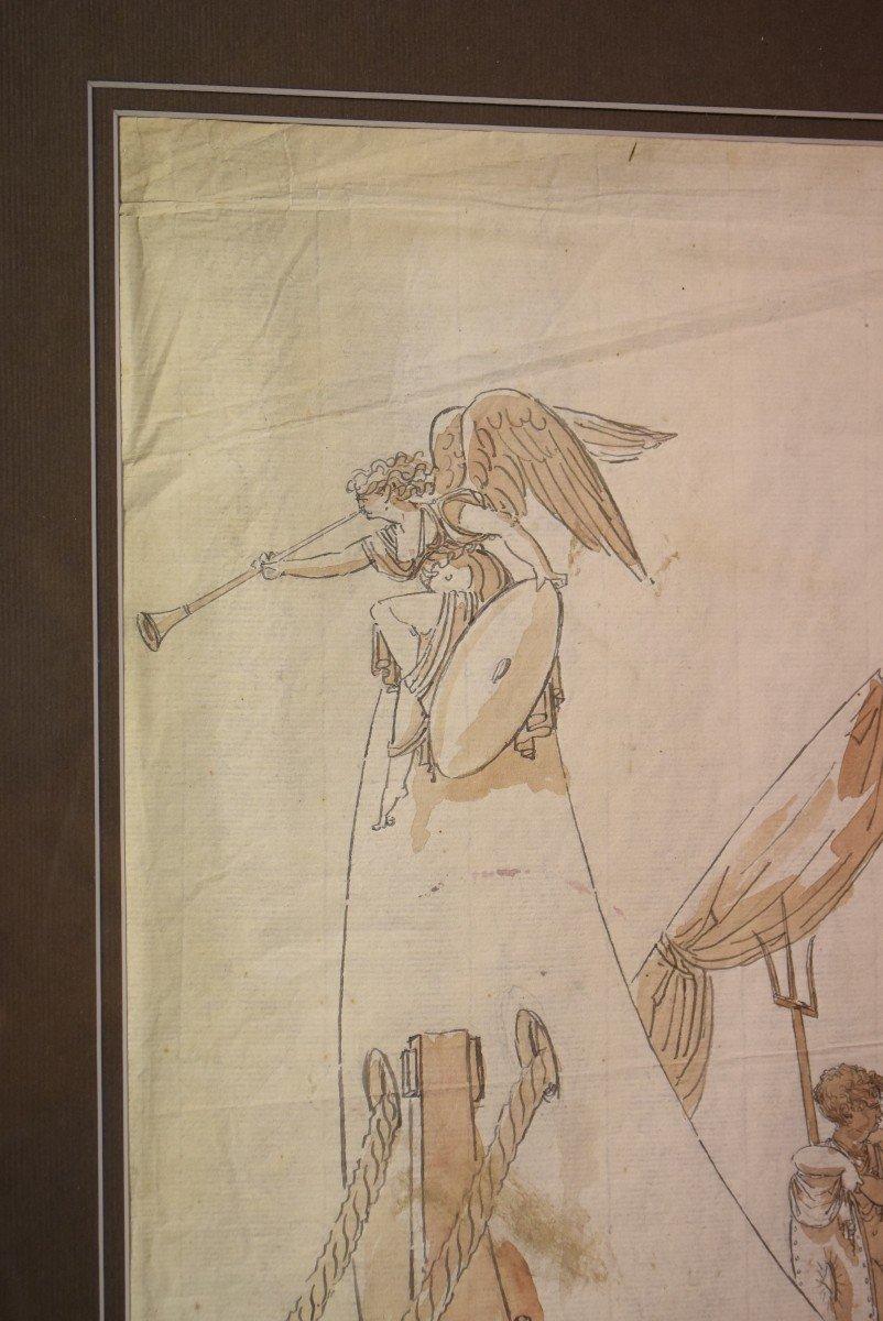 Grand dessin Athena (Minerve) XVIIIème-photo-4